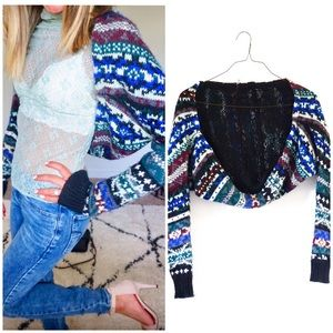 New Free People size xs sweater crop cardigan 🌸